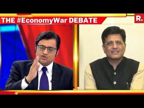 Piyush Goyal Speaks To Arnab Goswami On Yashwant Sinha's Remarks
