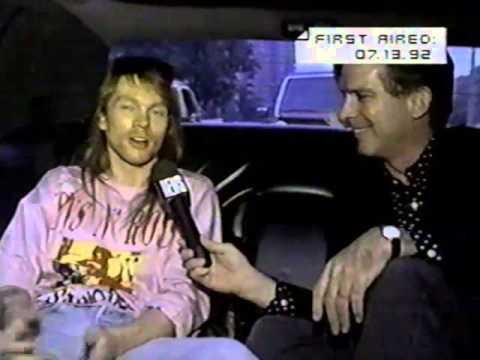 GUN'S N ROSES AXL ROSE INTERVIEW MTV 1992/INTRO HEADBANGER'S