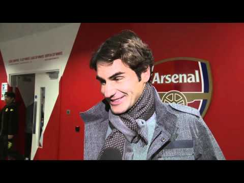 Federer Enjoys Arsenal Game