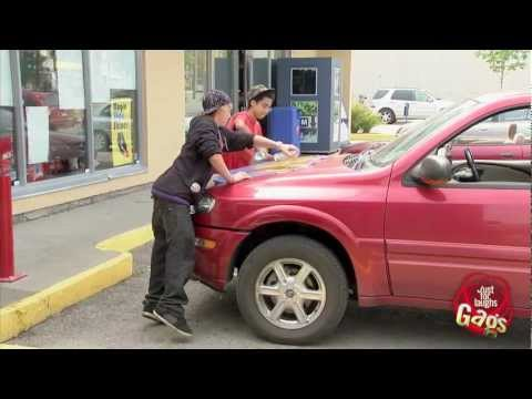 Kids Paint On Graffiti Car…Then Ask For Directions