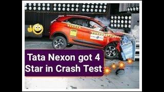Tata Nexon को Crash Test में मिले 4 Star Rating☺☺
