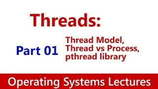 Operating System #33 Threads: Thread Model, Thread vs Process, pthread library