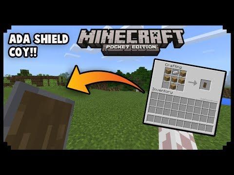 Cara Menemukan Shield Yang Disembunyikan Oleh Mojang Di Minecraft PE   MCPE Tutorial