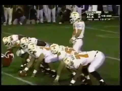 1995 Tennessee vs. Alabama - first play TD - Manning to Kent