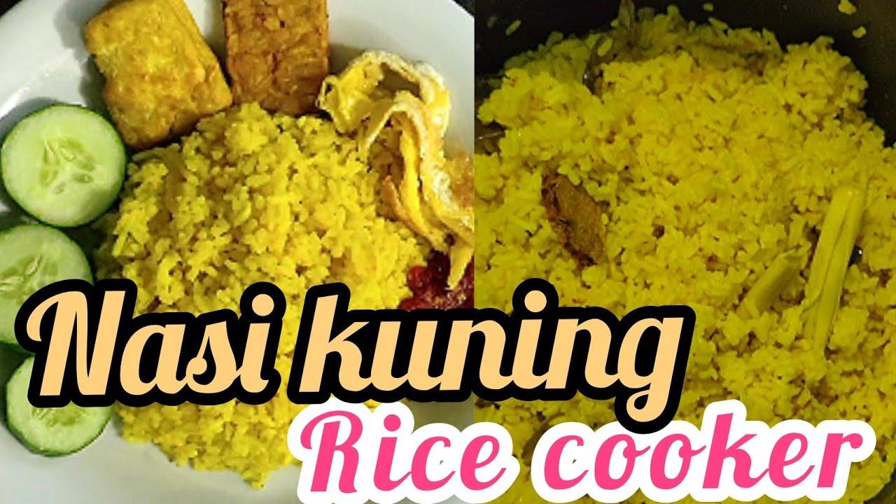 Cara membuat NASI KUNING sederhana yg enak ll Rice cooker ...
