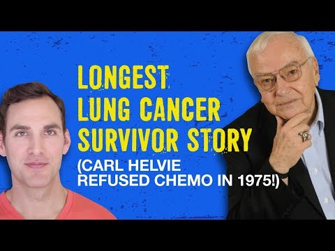 Longest lung cancer survivor refused chemo in 1975! Carl Helvie and Chris Wark (Chris Beat Cancer)