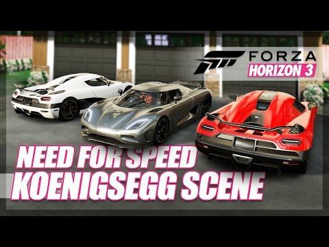 Forza Horizon 3 - Need For Speed Koenigseggs Recreation! (Race & Crash Scene)