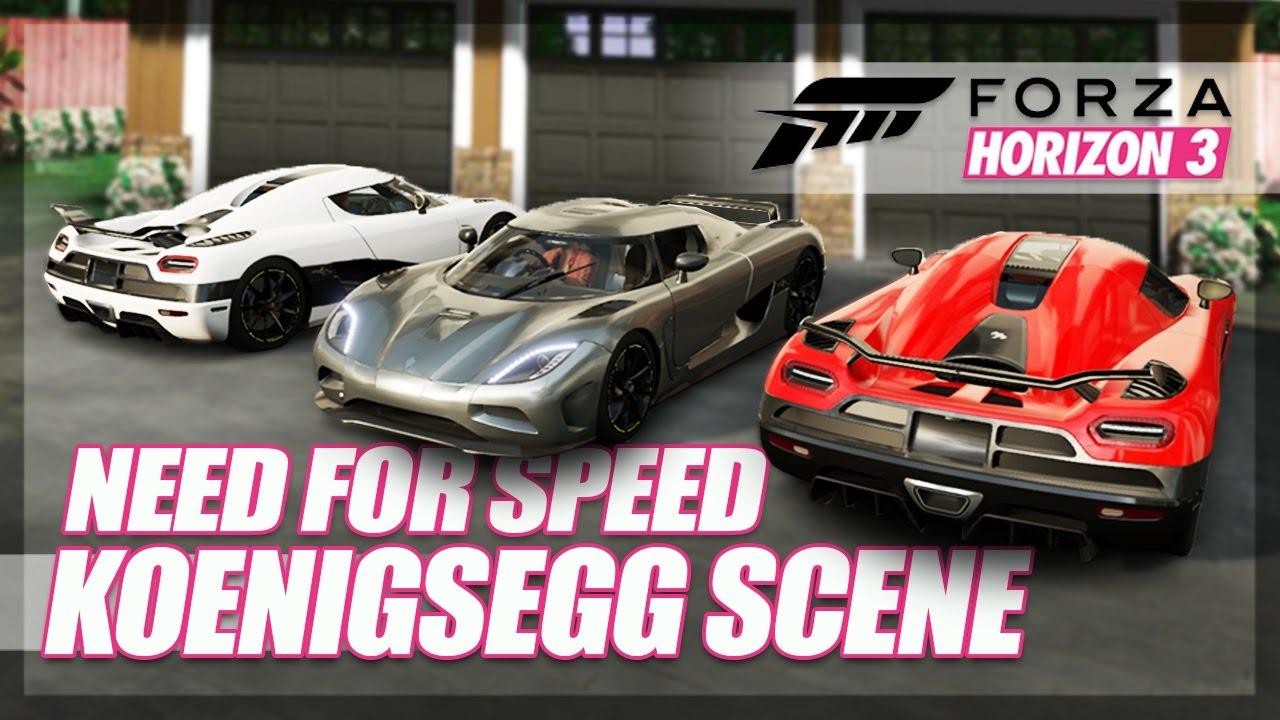 Forza Horizon 3 Need For Speed Koenigseggs Recreation Race