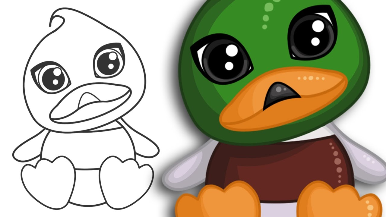 How To Draw A Cute Duck Easy Drawing Tutorial Step By Step Drawing
