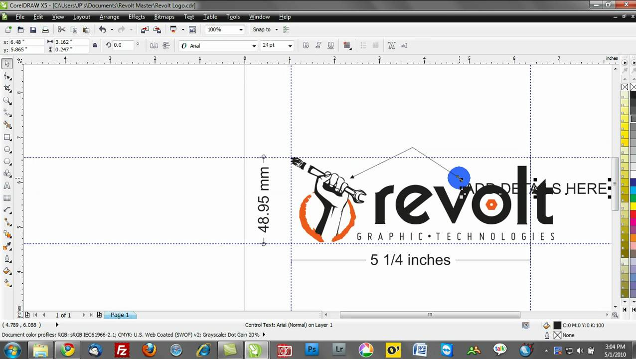 corel draw design tutorials: dimension tools