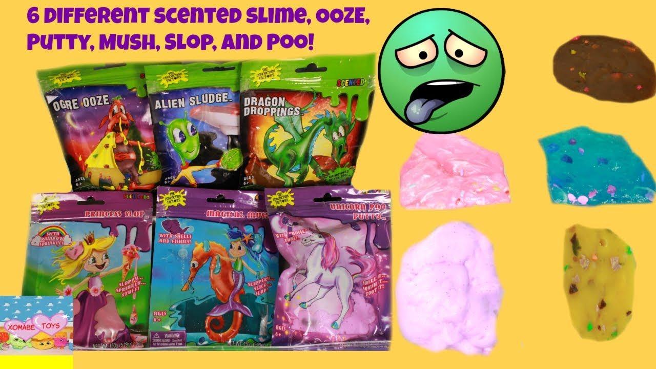 Best ASMR Scented Slime |Ogre Snot| Sea Mush |Alien Slime Sprinkles Slime  |Poop Slime