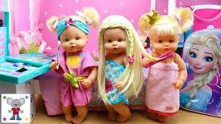 Día de Spa Bebés Nenuco HERMANITAS TRAVIESAS y CUCA Maquillaje Peluquería Manicura Masajes
