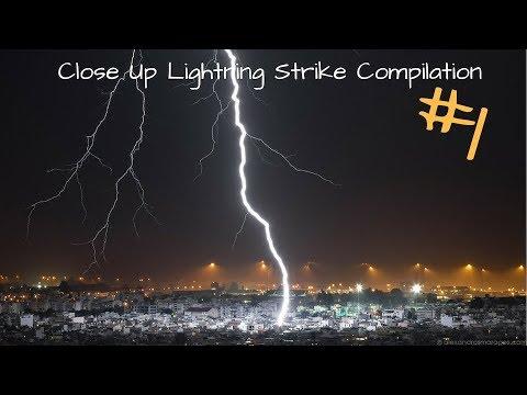 Close Up Lightning Strike Compilation #1