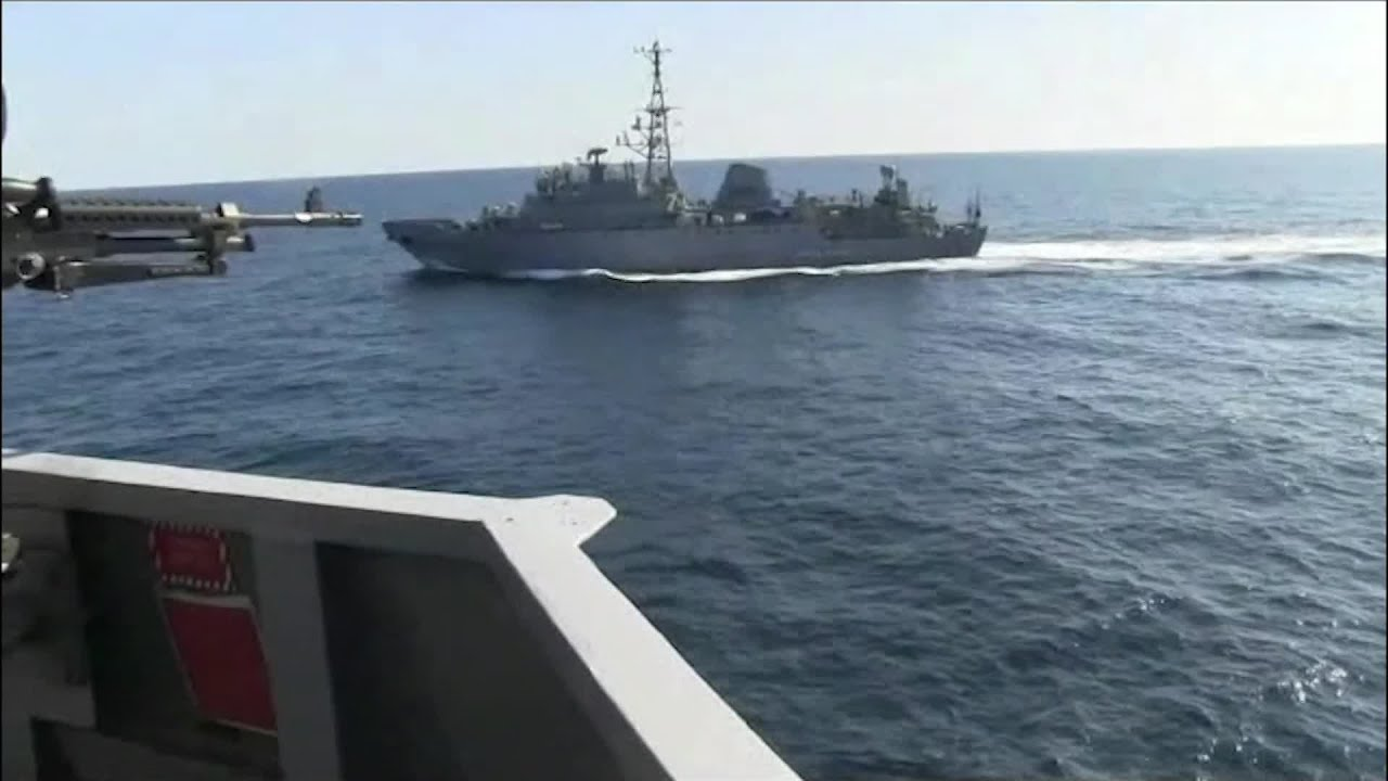 US ship in MidEast encounter with Russian vessel