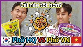 Phở HQ VS Phở VN (VIFON Phở Bò, OTTOGI Phở)!! Cái nào ngon hơn??  베트남 친구와  한국, 베트남 쌀국수 먹었을때 반응!