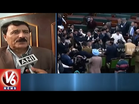 Jammu And Kashmir Assembly Adjourned After Clashes, Injury To Marshal   V6 News