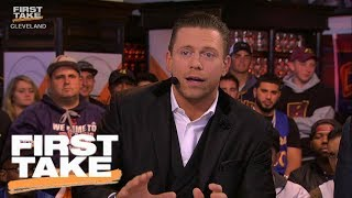 """The Miz"" joins First Take and says he believes the Cleveland Caval..."