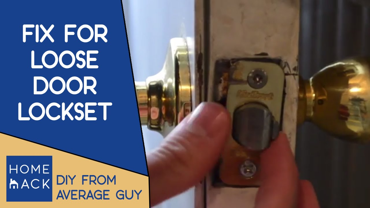 Door handle lockset jiggles | How to tighten door knob - YouTube