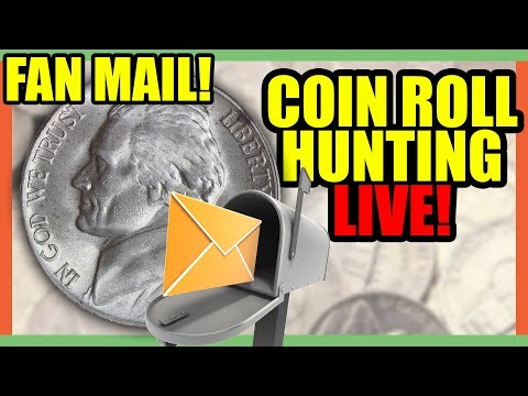 🔴 GUESS WHOSE BACK!! COIN ROLL HUNTING AND OPENING FAN MAIL!!