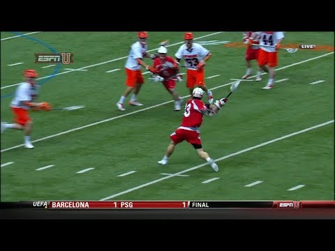 Cornell's Connor Buczek scores 4 goals from 12+ yards out against Syracuse