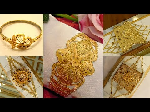 Latest Gold Mantasha And Bracelets Designs With WEIGHT