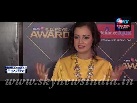 Actress Dia Mirza At REEL Movie Awards 2018 = Sky News India