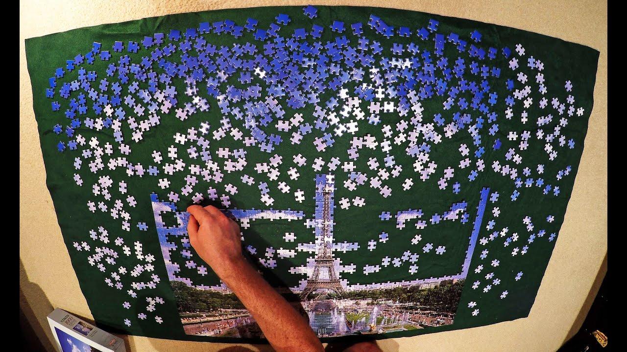 paris 1000 piece jigsaw puzzle time lapse youtube