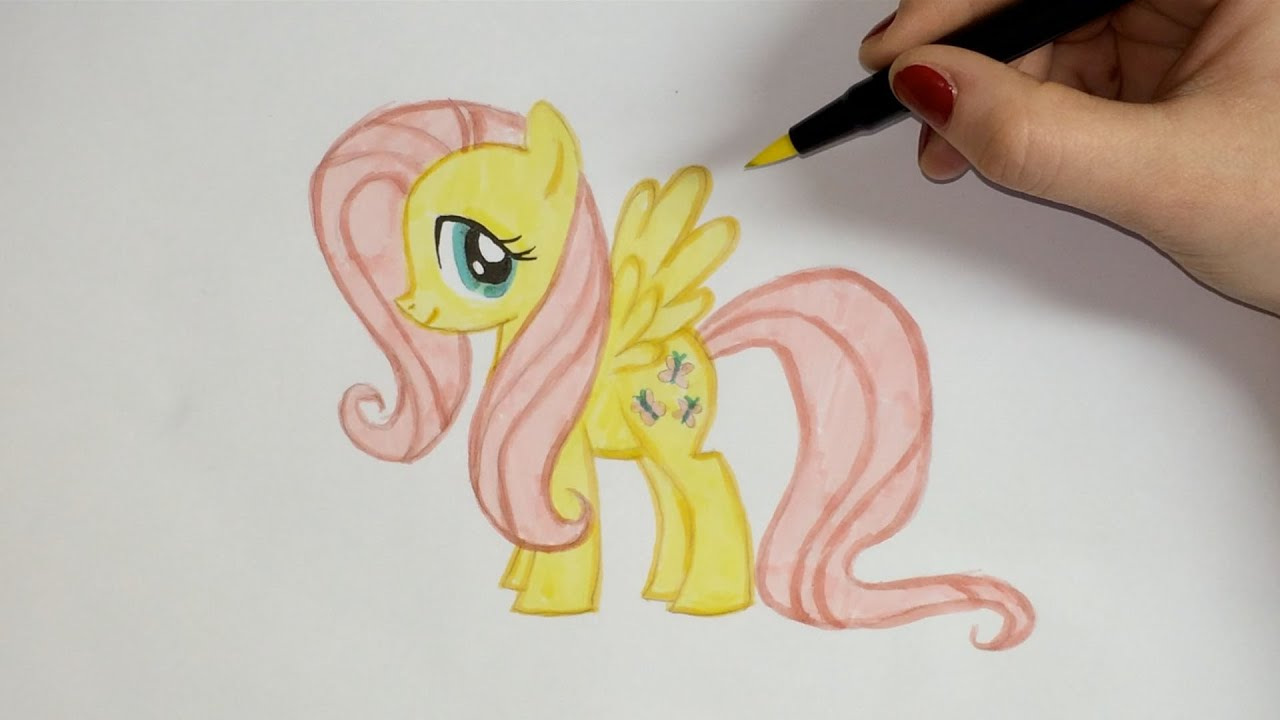 How to draw Fluttershy [My little Pony] tutorial
