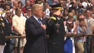 Трамп выступил на Арлингтонском кладбище в День памяти