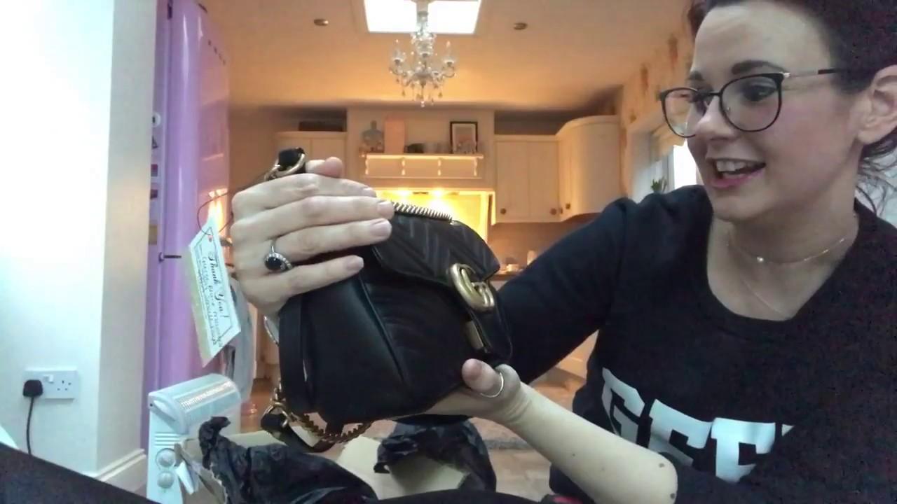 f4a575c6c36 Yipee new bag Unboxing   reveal small Gucci marmont flap bag my dream  designer handbag