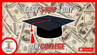 Earn $100 Per Day Posting Flyers At Colleges (EASY Money Making Method)