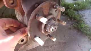 Замена передних тормозных дисков на Хонде Элемент Honda Element
