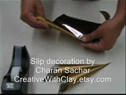 Slip decoration tool
