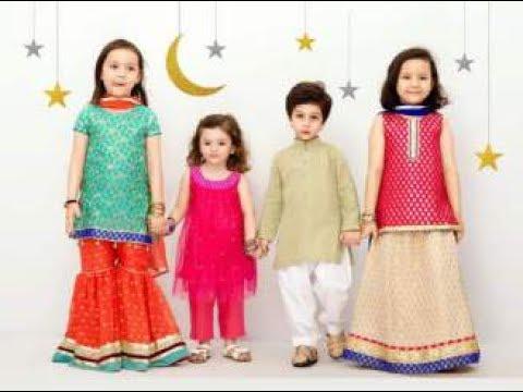 2c4d3c7a5 Latest Pakistani Dresses Ideas for kids This Eid 2017 - YouTube