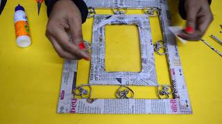 How To Make Newspaper Photo frame | Newspaper Craft