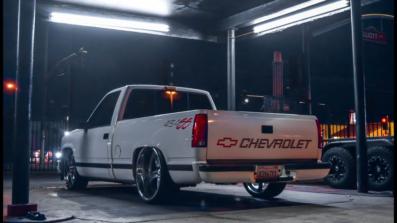 Chevy 454SS on 24x10 Reverse Lip Intros! - YouTube