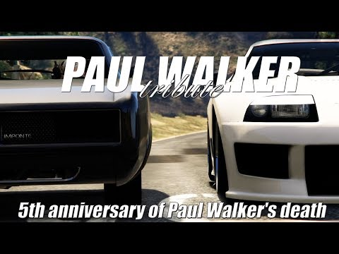 Paul Walker Tribute | 5th anniversary of Paul Walkers death | GTA 5 FAST AND THE FURIOUS