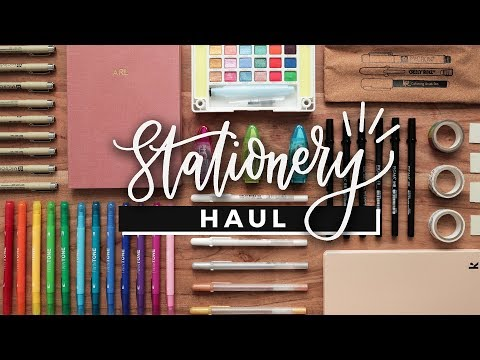 Stationery Haul! (w/ Demos) | Bullet Journal Supplies, Markers & Pens!