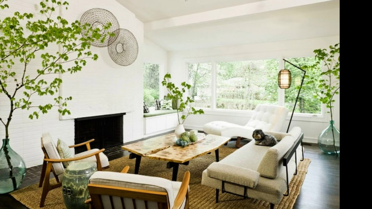 Best Minimalist Living Room Ideas With Plants - YouTube