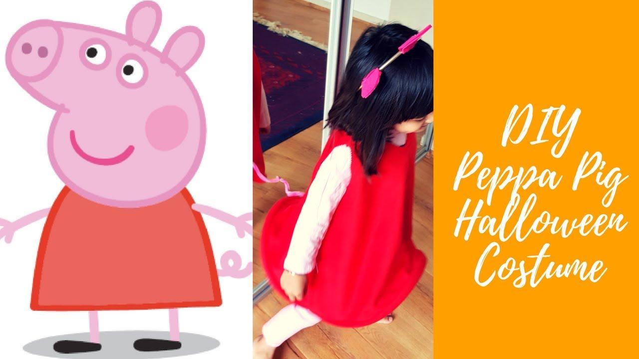 Diy Peppa Pig Halloween Costume Youtube