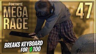 DELLOR FORTNITE MEGA RAGE *BREAKS KEYBOARD FOR $100 DONATION* EP47