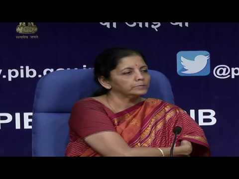 Commerce and Industry Minister Smt  Nirmala Sitharaman interact with media