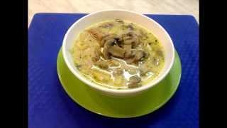 Сырный суп с курицей и грибами | Cheese soup with chicken and mushrooms