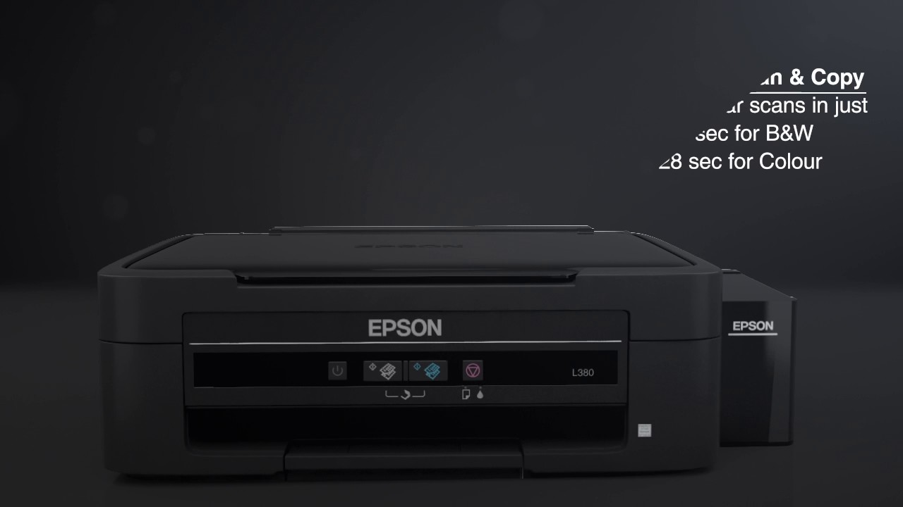 Epson L380 All-In-One Multi Function Colored Ink tank