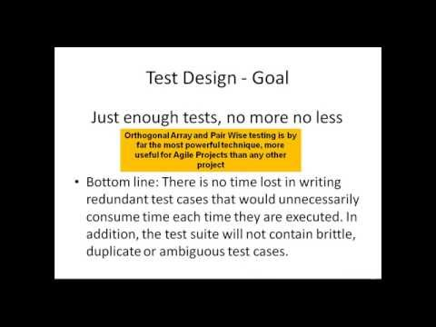 Agile Testing And Relevance Of Orthogonal Arrays And Pairwise Testing