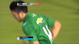 Gol de Vittor. Olimpo 1 - Banfield 2. Fecha 30. Primera División 2015. FPT.