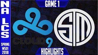 C9 vs TSM Highlights | NA LCS Week 5 Spring 2018 W5D1 | Cloud 9 vs Team Solomid Highlights