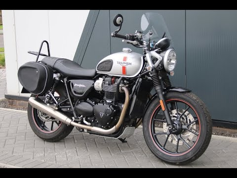 2016 TRIUMPH BONNEVILLE STREET TWIN | SILVER | LUGGAGE & SCREEN @ West Coast Moto, Glasgow, Scotland