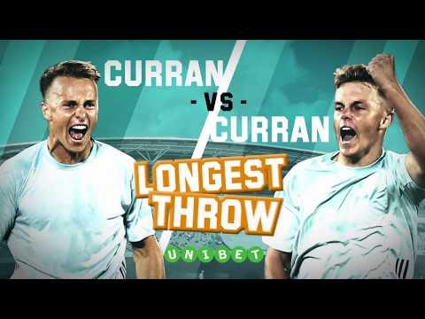 Tom Curran vs. Sam Curran: The LONG THROW Challenge!