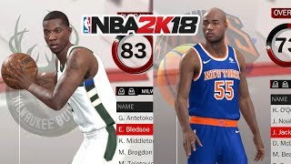 20 Players That Need Their Pictures Updated In NBA 2K18
